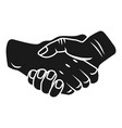handshake icon simple style vector image vector image