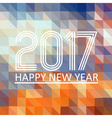 happy new year 2017 on multicolor low polygon vector image vector image