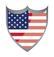 isolated american badge vector image