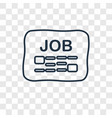 job search concept linear icon isolated on vector image vector image