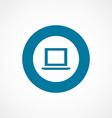 laptop bold blue border circle icon vector image vector image