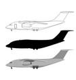 large transport aircraft vector image vector image