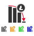 litecoin falling acceleration chart icon vector image vector image