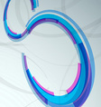 Modern hi-tech background with rings vector image vector image
