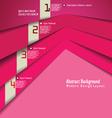 Modern pink design template vector image vector image
