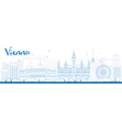 Outline Vienna Skyline with Blue Buildings vector image vector image