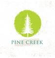 pine creek eco yoga retreat rough sign concept on vector image