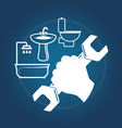 Plumbing services vector image