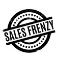 sales frenzy rubber stamp vector image vector image