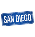 San Diego blue stamp isolated on white background vector image vector image