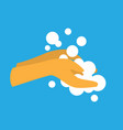 sanitizing with washing your hands design vector image