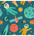 seamless pattern with space and planets vector image vector image