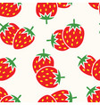seamless repeating strawberry pattern vector image vector image