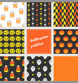 set halloween seamless pattern flat design vector image vector image