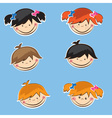 Set of cute boys and girls sticers vector image vector image