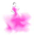 Sketch of a wedding fashion model vector image