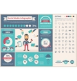 Social Media flat design Infographic Template vector image vector image