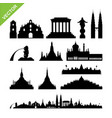 southeast asia cities landmark and skyline vector image vector image