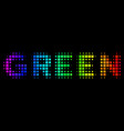 spectrum pixel green text icon vector image vector image