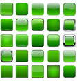 Square green app icons vector image vector image