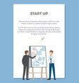 startup presentation poster vector image vector image