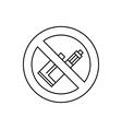 vape e cigarette vector image