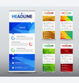 vertical roll up banner design with abstract