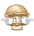 wink portobello mushroom character cartoon vector image vector image