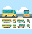 yellow bus school daily transport for kid bus in vector image vector image