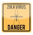 Zika virus warning square sign vector image