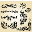 calligraphy ornament set 1 vector image