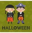 cute Halloween kids vector image