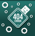 404 error page not found vector image