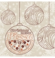 Abstract Christmas menu for Pizza