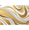 abstract marbling texture gold gray white vector image
