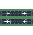 airplanes at runway vector image vector image