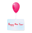 balloon with happy new year tag vector image