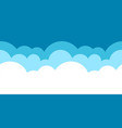 blue horizontal seamless cloud patter vector image