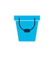 bucket icon colored symbol premium quality vector image vector image