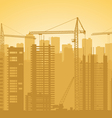 Building is in city vector image vector image