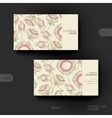 Business card template with floral abstract vector image