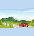 car travel road trip flat vector image vector image