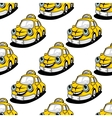 Cartoon taxi character seamless pattern vector image