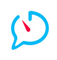 chat icon speech bubble reminding of time open vector image vector image