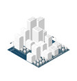 city on white design vector image vector image