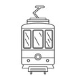 city tramcar icon outline style vector image