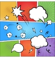 comic strip and speech bubbles on colorful vector image vector image