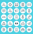 communication icons set collection of teamwork vector image vector image