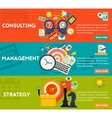 Consulting Management and Strategy Concept vector image vector image