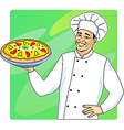 Cook with pizza vector | Price: 1 Credit (USD $1)